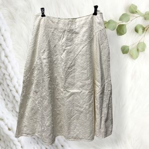 J Jill embroidered lace cream white skirt 10P